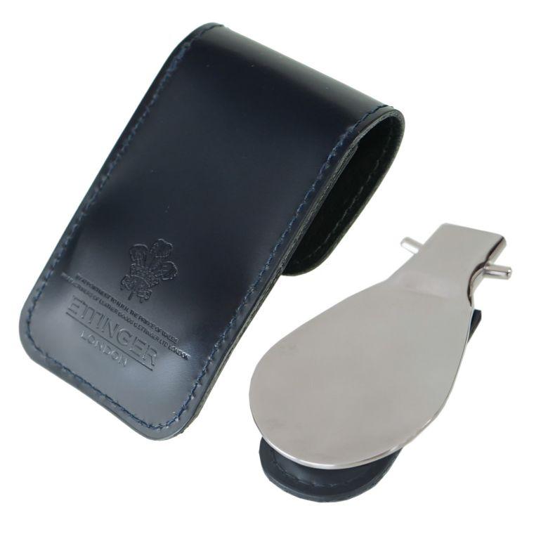 エッティンガー ETTINGER 靴ベラ 携帯ポーチ シューホーン メンズ BH298JR NV ネイビー