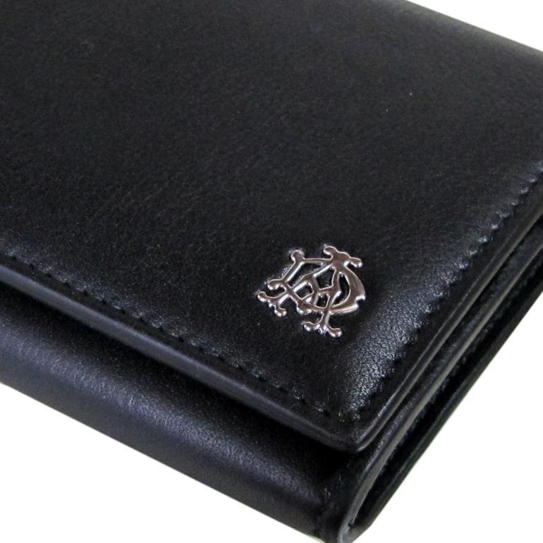 【名入れ可有料】 ダンヒル dunhill 長財布 メンズ リーブス REEVES コートウォレット ブラック L2XR10A