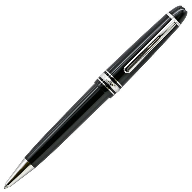 モンブラン ボールペン マイスターシュテュック プラチナライン ミッドサイズ ブラック×シルバー 高級筆記具 名入れ可有料