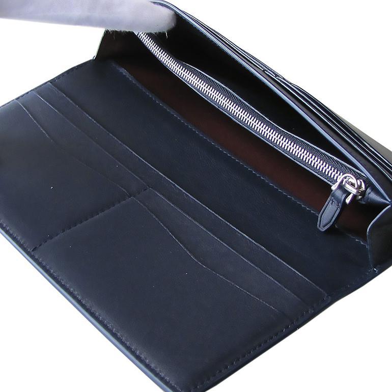 【名入れ可有料】 ダンヒル dunhill 長財布 メンズ リーブス REEVES コートウォレット ネイビー L2XR10N