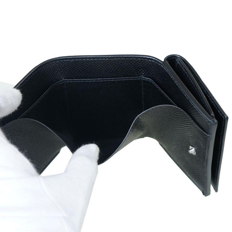【名入れ可有料】 ダンヒル dunhill 三つ折り財布 メンズ ミニ財布 コンパクトウォレット スマートウォレット カドガン ブラック 21R2450CA001R
