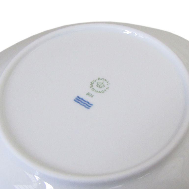 2枚セット ロイヤルコペンハーゲン ホワイトフルーテッド ハーフレース 深皿 パスタプレート パスタ皿 ディーププレート 21cm 1128604