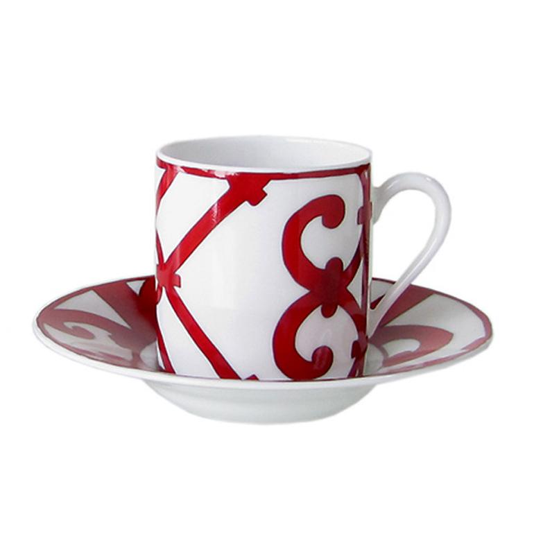 エルメス HERMES 単品 ガダルキヴィール レッド 11017P コーヒーカップ&ソーサー 一客 100ml