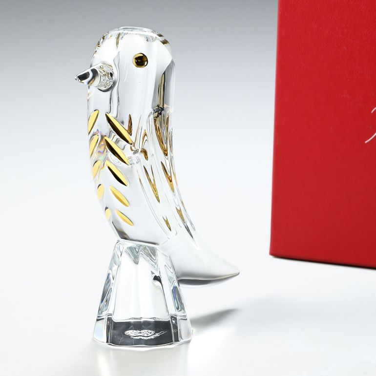 バカラ Baccarat 置物 ファウナクリストポリス 鳥 ベース 一輪挿し ベース 花瓶 クリア ハイメ・アジョン 2814455