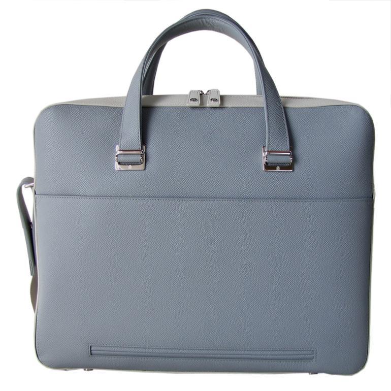 ダンヒル メンズ ビジネスバッグ ブリーフケース ボードン BOURDON シングルドキュメントケース グレー×アイボリー L3Y281L