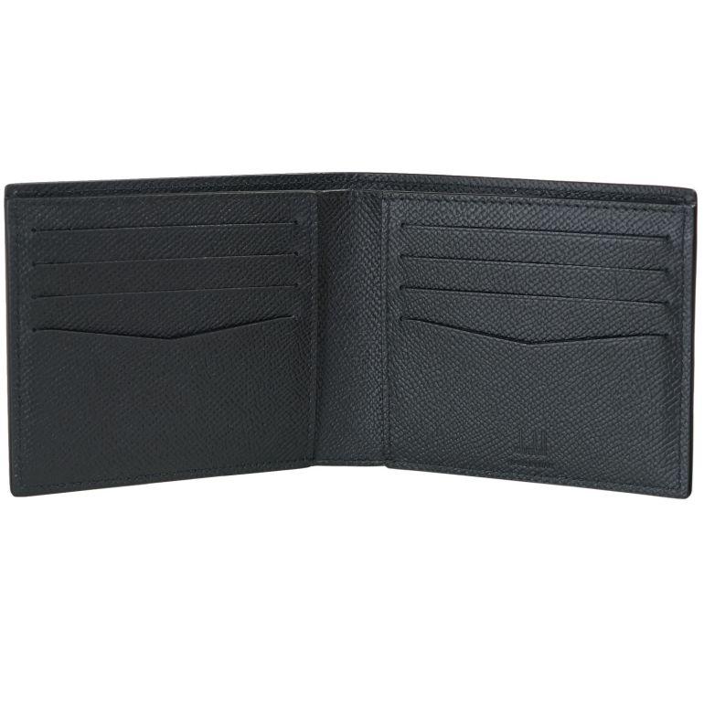 【名入れ可有料】 ダンヒル dunhill 二つ折り財布 メンズ CADOGAN カドガン レザー ブラック 18F2300CA001R