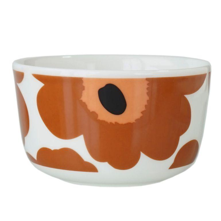マリメッコ ボウル 10cm 250ml UNIKKO ウニッコ 深鉢 食器 ホワイト×ブラック×ブラウン 070400 189 名入れ可有料