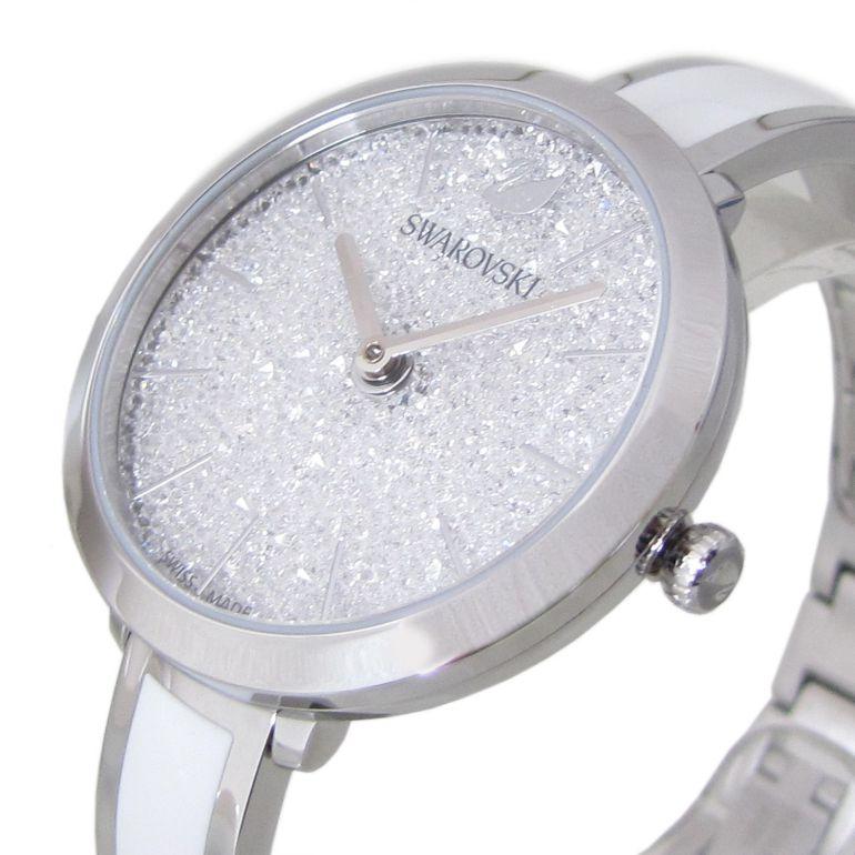 スワロフスキー SWAROVSKI 腕時計 CRYSTALLINE DELIGHT ウォッチ レディース シルバー/ホワイト 5580537