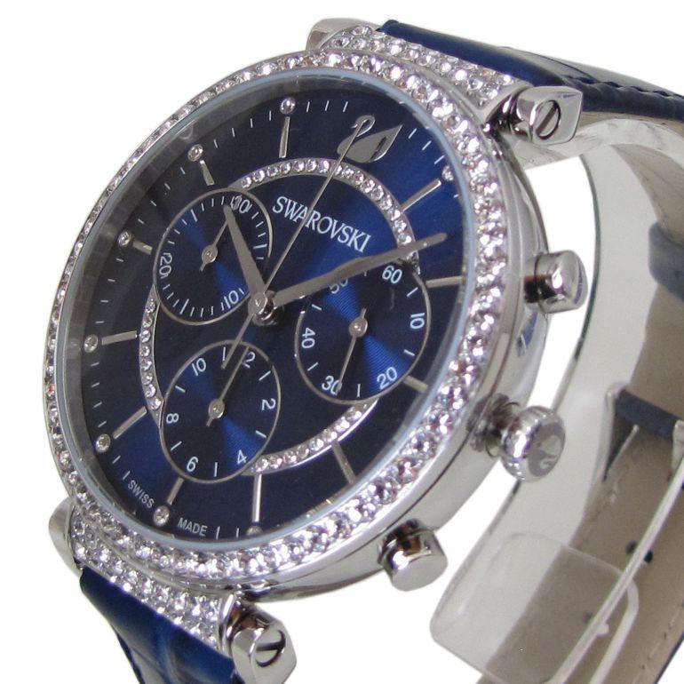 【名入れ無料】 スワロフスキー SWAROVSKI 腕時計 PASSAGE CHRONO ウォッチ レディース シルバー/ブルー 5580342