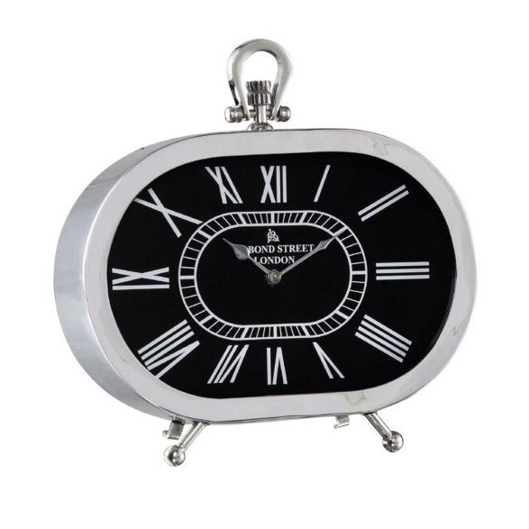 置時計【Black×Silver】