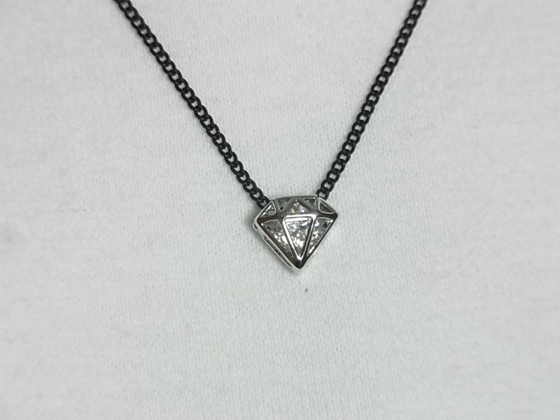(196C-0010) ダイヤモチーフ2連チョーカー