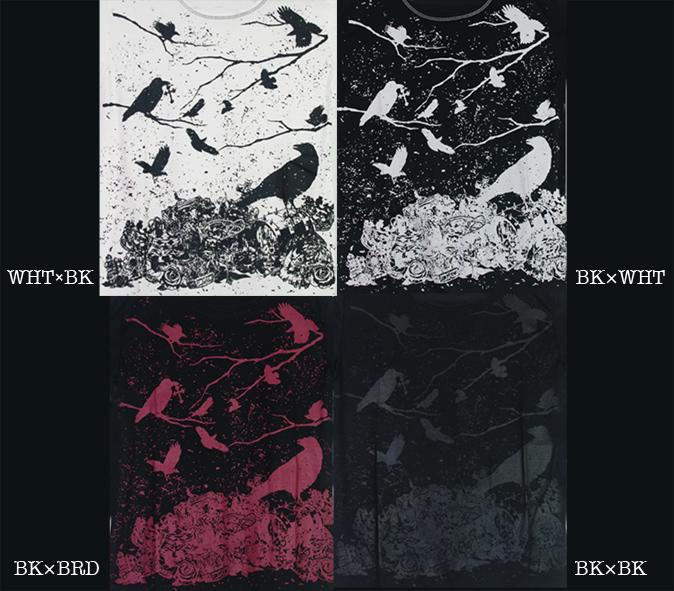 (202T-0004) crow × treasure プリント ベーシック 半袖 Tシャツ