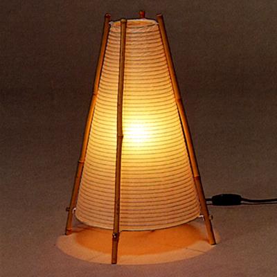 本美濃和紙 4本さらし竹 三角 中 和紙 スタンド インテリアライト 照明 円錐 【インテリア_ライト_照明_インテリアライト】