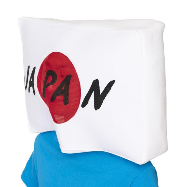 日の丸 国旗 かぶりもの キャップ 応援 被り物 かわいい 帽子 コスプレ スポーツ観戦 マラソン 衣装 仮装 被り物 パーティーグッズ マスク 可愛い おもしろ コスチューム