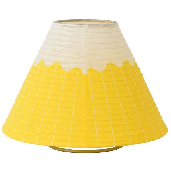 和紙 照明 富士山型の提灯テーブルランプ 照明 黄色 【インテリア_ライト_照明_インテリアライト】