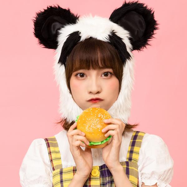 もふもふパンダさん パンダ キャップ かぶりもの 上野動物園 被り物 アニマルマスク 動物 パーティーグッズ 帽子 マスク マラソン 衣装