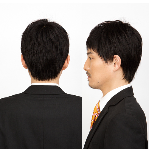 メンズ ウィッグ 黒 カームショート スタンダードブラック 【耐熱】 メンズウィッグ フルウィッグ かつら 男性 黒髪 仕事 ビジネス 面接 ラパン