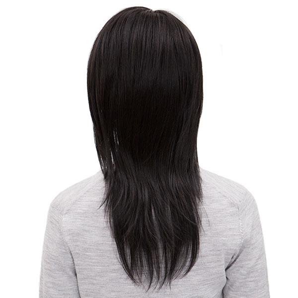 耐熱 スパイシーロング スタンダードブラック ウィッグ ロング レディース 黒髪 【ウィッグ_つけ毛_フルウィッグ】