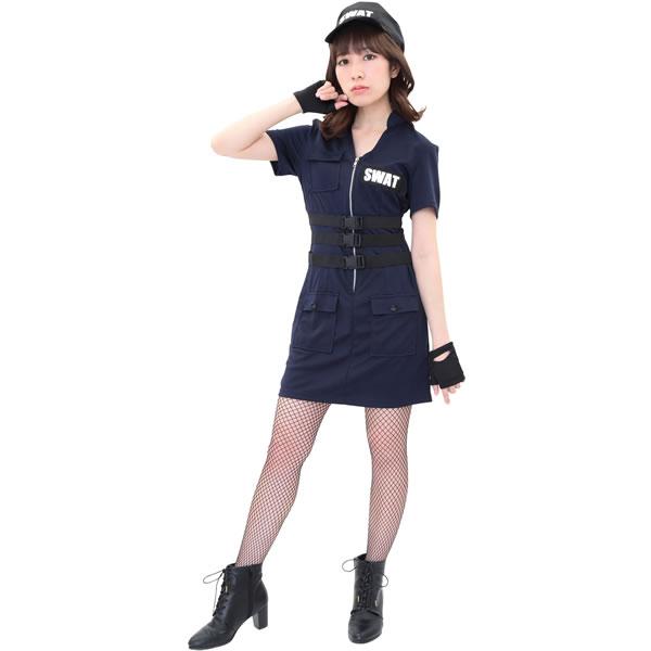 swat コス ハロウィン スワット コスプレ レディース 衣装
