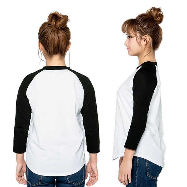ラグラン tシャツ 七分袖 メンズ レディース 無地 厚手 ラグランスリーブ ラグラン袖 長T 長袖 ロンT ベースボール 綿 コットン トップス カットソー