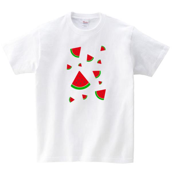 スイカ グッズ tシャツ バラ すいか おもしろ 雑貨 S M L XL 3L 4L プリント 服 メンズ レディース プレゼント かわいい 衣装 おもしろ雑貨 おもしろtシャツ 可愛い