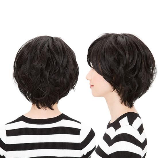 ウィッグ ボブ 通販 ショートボブ ショートヘア 耐熱 ソフトカールボブ スタンダードブラック フルウィッグ 黒髪 コスプレ コス