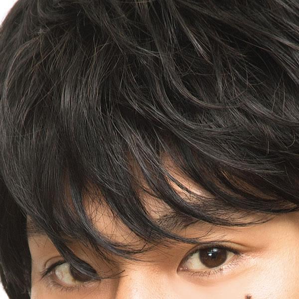 メンズ ウィッグ ショート メンズ ナチュラルマッシュ ブラック 【耐熱】 メンズウィッグ フルウィッグ かつら 男性 ビジネス 学校 仕事 黒髪 WIGGY RICHメンズ 面接