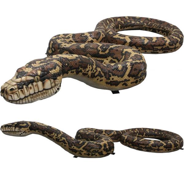 蛇 置物 ヘビ オブジェ 大蛇 巨大 ニシキヘビ オーナメント へび ディスプレー 代金引換不可 ディスプレイ 特大サイズ FRP制 リアル 動物