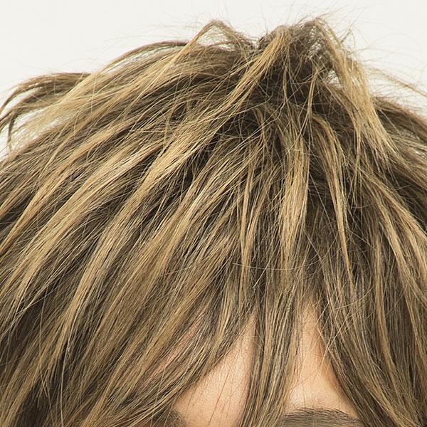 メンズ ウィッグ ショート メンズ ミディアムウルフ ミックスゴールド 【耐熱】 メンズウィッグ フルウィッグ かつら 男性 遊び WIGGY RICHメンズ 金髪