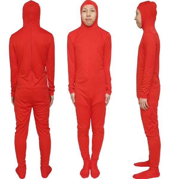 全身タイツくん 白・黒・青・赤・緑・黄・肌色・ピンク・茶色 余興 罰 女性もOK マラソン 仮装