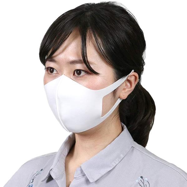 マスク 夏用 冷感 涼しい 夏用生地 洗える 白 在庫あり 夏 ひんやり マスク 冷感素材 (3枚入り) ホワイト