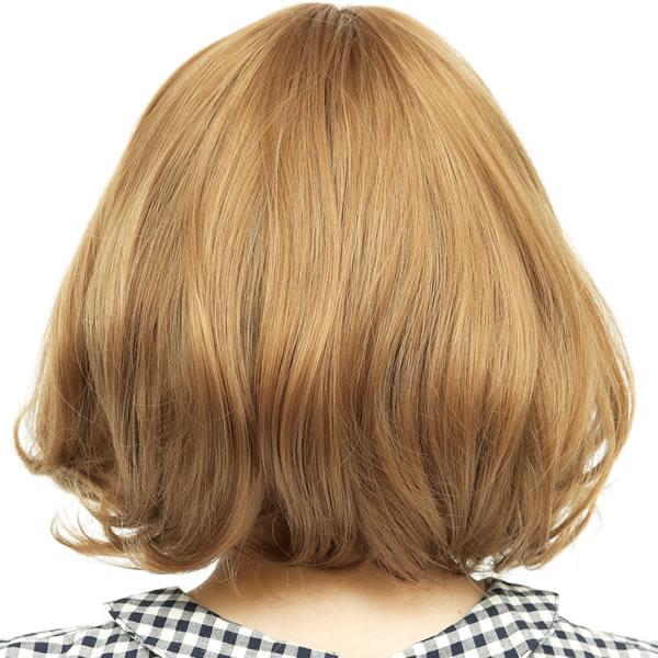 ウィッグ ボブ ショート 耐熱 フルウィッグ ドーリーボブ ゴールドブラウン コスプレ 自然 wig かつら WIGGY RICH