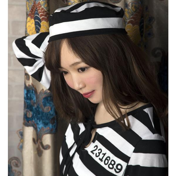 囚人 女性 コスチューム プリズナーレディ 囚人服 衣装 ハロウィン コスプレ