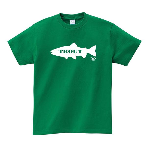 トラウト グッズ tシャツ おもしろ 雑貨 釣り 魚 オリジナル メンズ レディース S M L X 3L 4L プリント 服 可愛い おしゃれ 面白い かわいい 川 釣り場