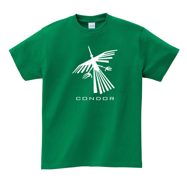 コンドル 地上絵 tシャツ ナスカ グッズ 雑貨 鳥 可愛い おもしろ かわいい S M L XL インカ 帝国 プリント 服 メンズ レディース プレゼント 面白い おもしろ雑貨 おもしろtシャツ おしゃれ