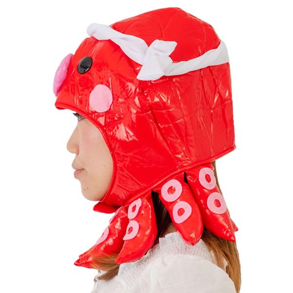 たこ キャップ かぶりもの ポケモン オクタン マラソン 衣装 仮装 コスプレ