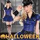 ポリス コスプレ レディース 警官 コスチューム ハロウィン 仮装 衣装  ミニスカポリス  警察 婦人警官 マジカルポリス ハロパ