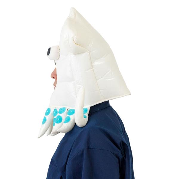 いかキャップ かぶりもの イカ マラソン 衣装 仮装 コスプレ