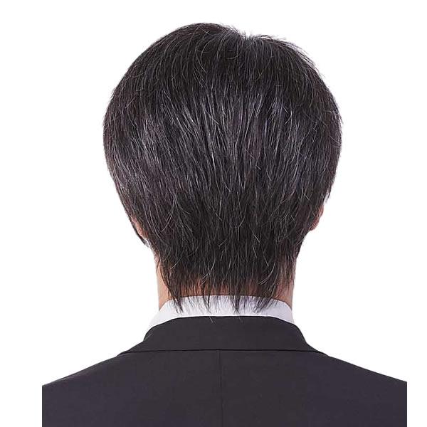 ウィッグ メンズ 人毛MIX 総手植え フルウィッグ かつら ベーシックスタイル グレー 15% 男性 リーブル homme libre