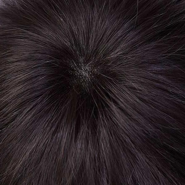 ウィッグ メンズ 人毛MIX 総手植え フルウィッグ かつら ベーシックスタイル ナチュラルブラック 黒髪 男性 リーブル homme libre