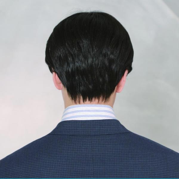 ウィッグ メンズ パーマ カール 自然 ショート 耐熱 ニュアンスセンターパート スタンダードブラック 黒 おしゃれ かっこいい かつら 男性 医療用 フルウィッグ