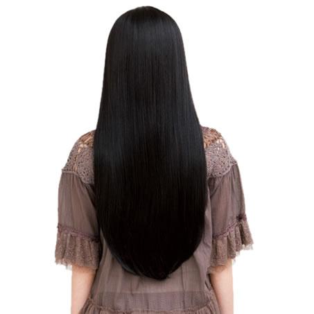 【耐熱】 ウィッグ かつら 黒髪 ナチュラルロングストレート ブラック ロング 【ウィッグ_つけ毛_フルウィッグ】