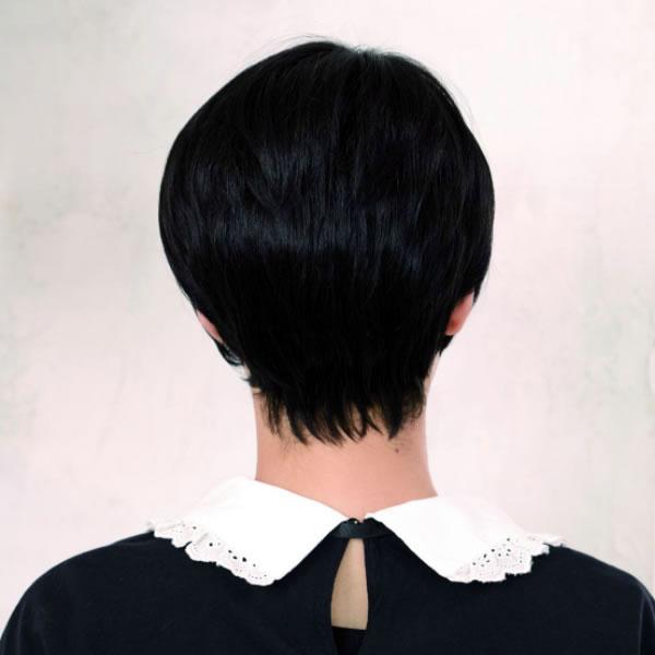 ウィッグ ショート ボブ レディース 女性用 おしゃれ かわいい フルウィッグ ベイビーショート スタンダードブラック 黒髪 医療用