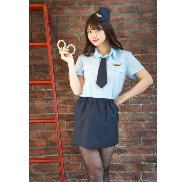 ポリス 警官 コスプレ レディース かわいい 婦人警官 帽子 ハロウィン 衣装 コスチューム 仮装 ベーシックポリス