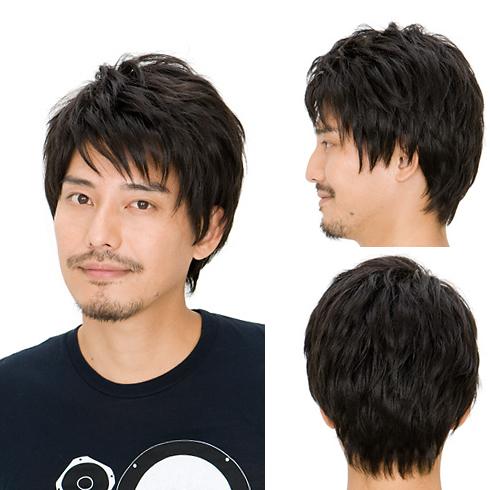 メンズ ウィッグ 黒 フレッシュショート スタンダードブラック メンズウィッグ フルウィッグ 黒髪 かつら 男性 仕事 ビジネス 面接