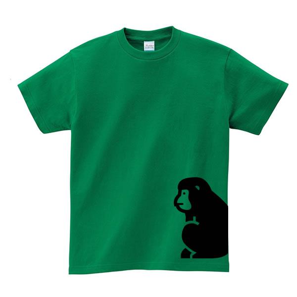 猿 tシャツ さる グッズ サル プリント ニホンザル 雑貨 S M L XL  服 メンズ レディース 衣装 おもしろ雑貨 おもしろtシャツ