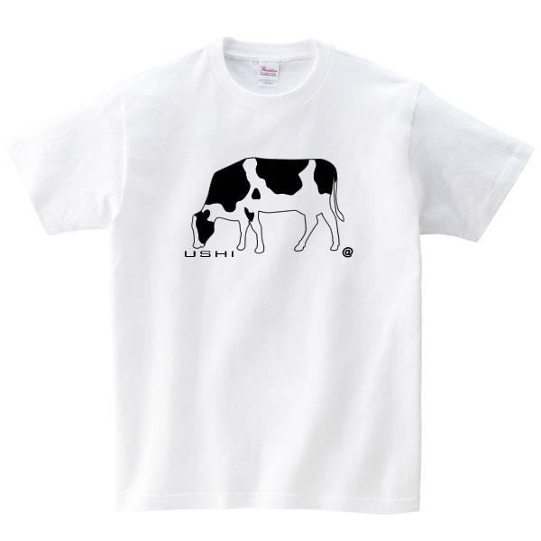 牛 グッズ tシャツ ウシ おもしろ 雑貨 うし 牛柄 乳牛 ホルスタイン S M L XL  服 メンズ レディース 衣装 おもしろ雑貨 おもしろtシャツ