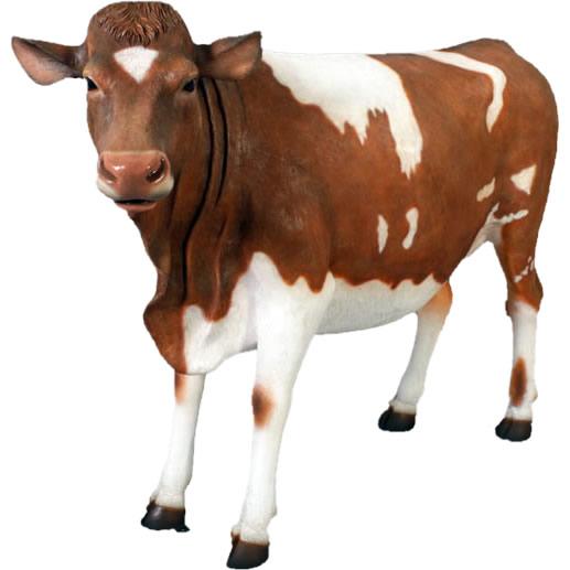 【代金引換不可】 【送料別途お見積り】 FRP制 リアル 動物オブジェ ガーンジー乳牛【インテリア_インテリア小物_置物_置物】
