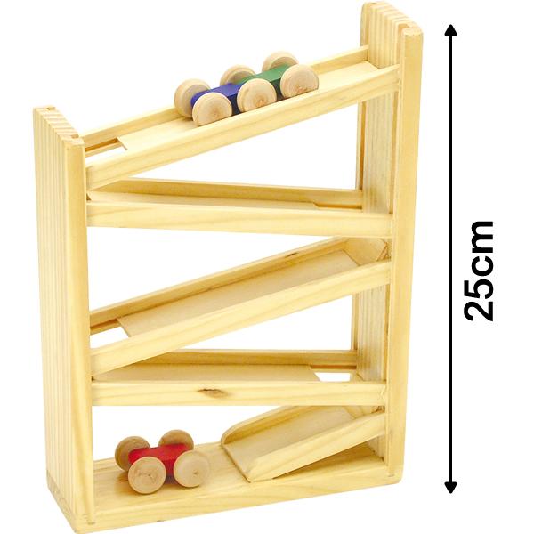 木製 車 坂道 木製コロコロスラローム 木製玩具 【おもちゃ_ゲーム_知育玩具】
