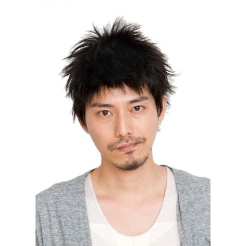 メンズ ウィッグ 黒 デザインショート スタンダードブラック メンズウィッグ ルウィッグ 黒髪 かつら 男性